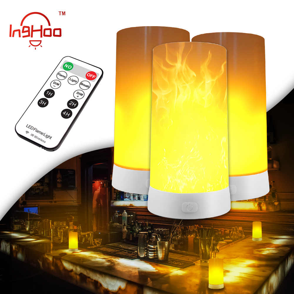 Inghoo New LED Simulated Flame Light Can Be Charged Via USB And Can Simulate Flame Effects By Candlelight Gravity Sensing Light