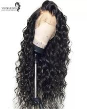 Vinuss Full Lace Human Hair Wigs For Black Women deep wave full lace Wigs Brazilian Remy Pre Plucked Bleached Knots