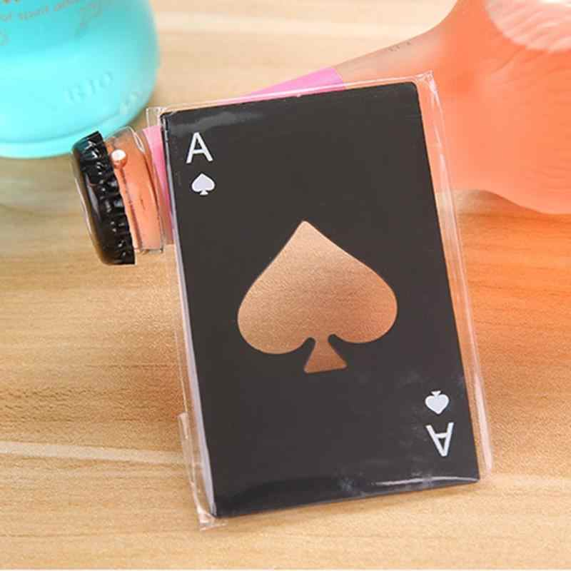 Mini Spade A Poker Card Beer Bottle Opener Personalized Stainless Steel Bottle Opener Bar Tool