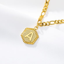 26 Initial Letter Golden Necklace or Anklets Bracelet Classic and Fashion Stainless Steel Square Pendant Jewelry Gifts Women Men(China)
