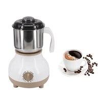 Aço inoxidável moedor de feijão café elétrico quente casa moagem fresadora acessórios café (plug ue)|Cafeteiras| |  -