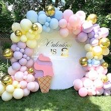 Macaroon balloon garland arch kit, baby shower girl baptism happy birthday party decoration adult wedding supplies
