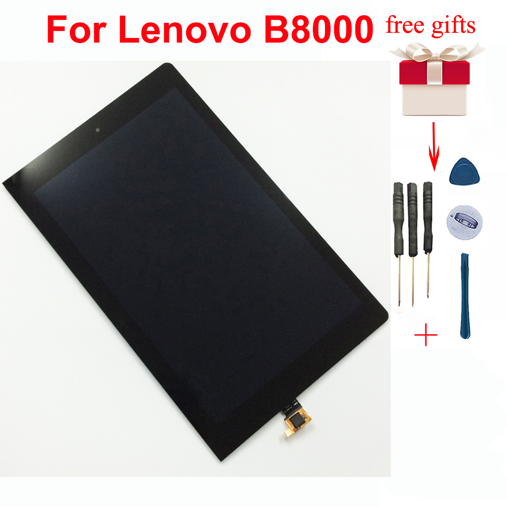 Touch Screen Digitizer Sensor Glass + LCD Display Monitor Assembly For Lenovo <font><b>B8000</b></font> B8000F Yoga Tablet 10 60047 image