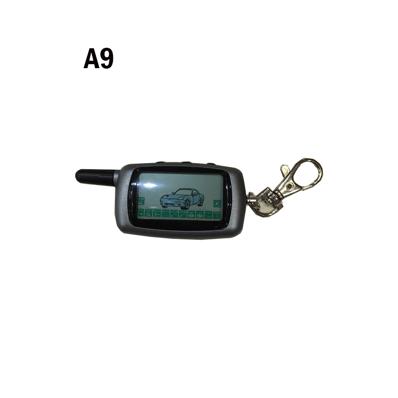 <font><b>A9</b></font> 2-way LCD Remote Control Key Fob Keychain for Vehicle Security Two way car alarm Anti-theft System <font><b>Twage</b></font> <font><b>StarLine</b></font> <font><b>A9</b></font> / A6 image