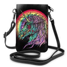 NOISYDESIGNS Unicorn Shoulder Bag Gothic Leather Bag Street Crossbody Women Bags Handbags Quality Teenage Purse bolso mujer