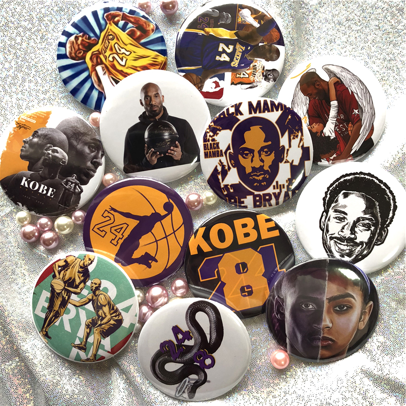 Kobe Bryant#24 Basketball Acrylic  Icons Badge Custom Brooches On The Bag Clothing Decoration Brooches Kids Toy