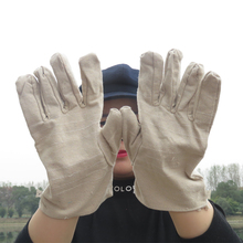Men Women Canvas Gloves Labor Supplies Full Finger Outdoor Hunting Safety Work Industrial protection insurance Welding Gloves
