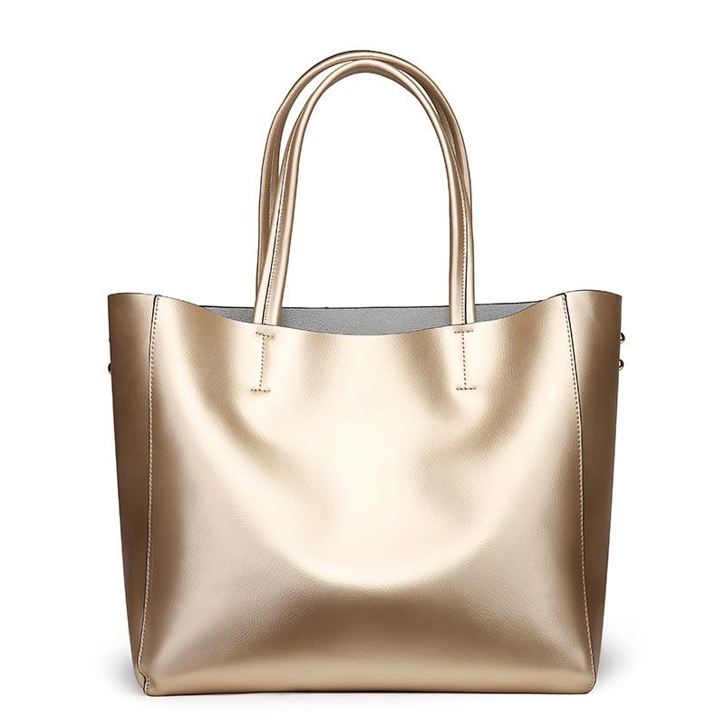 Nuove donne Europee e Americane borse in pelle di moda sacchetto di spalla di cuoio 2019 delle signore di grande capacità shopping bag - 4
