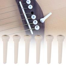 6Pcs Acoustic Folk Guitar Strings Nail Bridge Pins Fixed Cone Replacement Parts