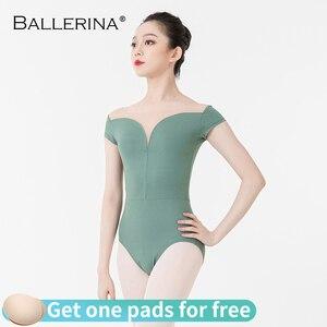 Image 1 - バレエ練習レオタード女性のためのaerialistダンス衣装半袖体操レオタードadultoバレリーナ5729