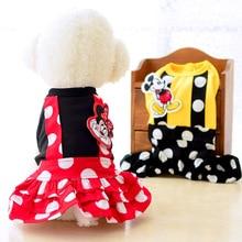Pet Dog Clothes Lovers Belt Princess Dress Cat Classic Red Black Cute Cartoon Puppy Loli Style
