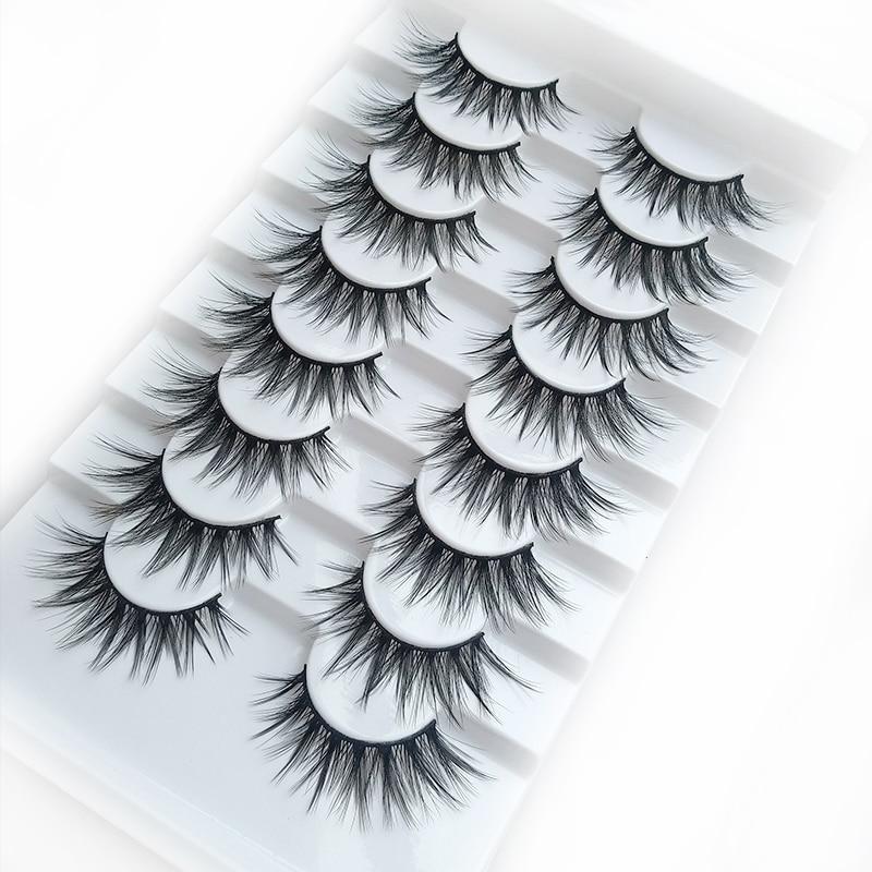 8 Pairs 3D Mink Lashes Natural False Eyelashes Dramatic Volume Fake Lashes Makeup Eyelash Extension Silk Eyelashes