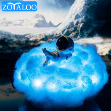 Led Rainbow Effect Night light Colorful Clouds Astronaut Lamp With As Children #8217 s Night Light Creative Birthday Gift cheap zoyaloo Atmosphere Moon CN(Origin) Led night light 001 Night Lights NONE Fluorescent Touch HOLIDAY 0-5W 1215 dropshipping