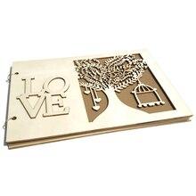 AFBC Wedding Signs Wood Wedding Signature Guest Book Photo Frame Wedding Decoration Rustic Wedding Guestbook Party Decor Favor