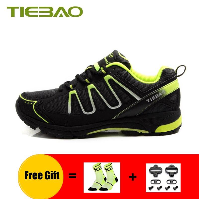 TIEBAO loisirs cyclisme chaussures respirant hommes femmes VTT baskets sport de plein air auto-verrouillage équitation vélo vtt chaussures