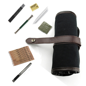 Image 4 - 29Pcs עיפרון סקיצה עיפרון סט עפרונות פחם Earser שירות סכין ציור סטנדרטי עיפרון עם בד תיק אספקת אמנות
