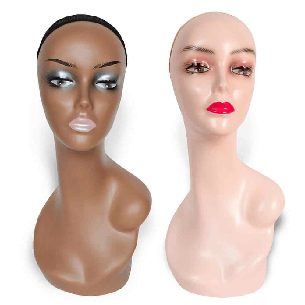 Female ABS Mannequin Manikin Head Model Display Manikin Mannequin Wig Scarf Glasses Hat Cap Display Stand Rack
