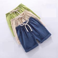 Short-Pants Outwear Elastic-Waist Kids Cotton Boy Orangemom Casual Solid Summer for 1-8y