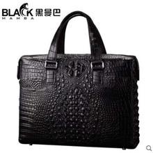heimanba Crocodile skin man bag handbag large capacity horizontal briefcase crocodile man bag cross-body bag with one shoulder недорого
