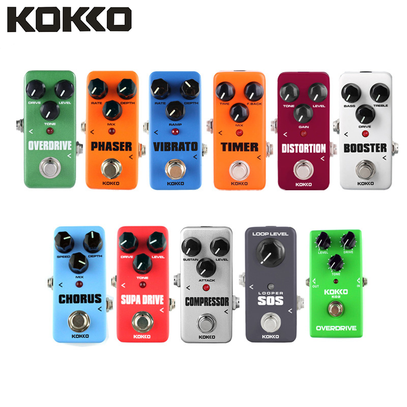 KOKKO Electric Guitar Effects Pedal Power Adapter Supply Guitarra Instrument Cable Pedal Board EFX AMP EQ Guitar Accessories