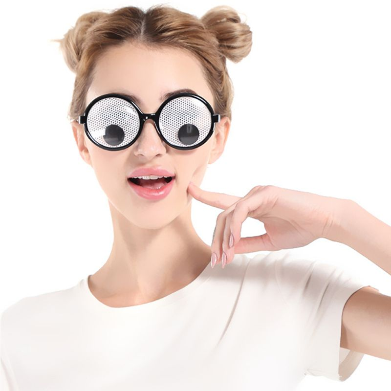 Googly Googly Eyes Glasses – Plastic Round Party Favors, Novelty Shades, Party Toys, Funny Costume Glasses Accessories For Kids