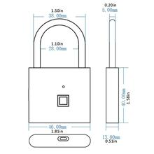 Car Fingerprint Padlock Cabinet Lock Small Lock Dormitory Bag Small Lock Pure Fingerprint Lock