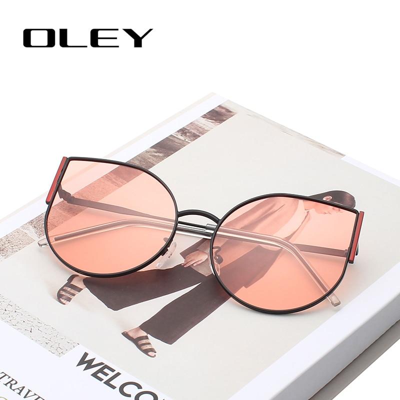 OLEY Cat-Eye-Sunglasses Cateyes Fashion Brand-Designer Vintage Retro Women UV400 Y8950