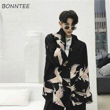Camisas de hombre impresas Vintage Streetwear diario estudiantes hombre estilo coreano diseñado varios colores patrones de moda cómodos nuevo