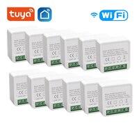 1/8 Uds Tuya inteligente 16A Wifi interruptor dos Control DE vía temporizador de interruptor inalámbrico Automatización de casa inteligente trabajo con Alexa de Google