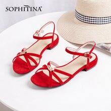 Sophitina/элегантные женские сандалии на плоской подошве; Классические