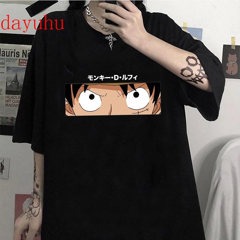 Japanese Anime One Piece Graphic Tees Men Kawaii Zoro Luffy T Shirt Summer Top Harajuku Hip Hop Unisex Tshirt Male T-shirt Manga