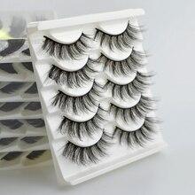 цена на 5 Pairs 3D Mink Hair False Eyelashes Criss-cross Wispy Cross Fluffy length 9-16mm Lashes Extension Handmade Eye Makeup Tools
