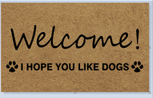 Entrance Floor Mat Non-slip Doormat welcome! i hope you like dogs Door Mat Outdoor Indoor Rubber Mat Non-woven Fabric Top стоимость
