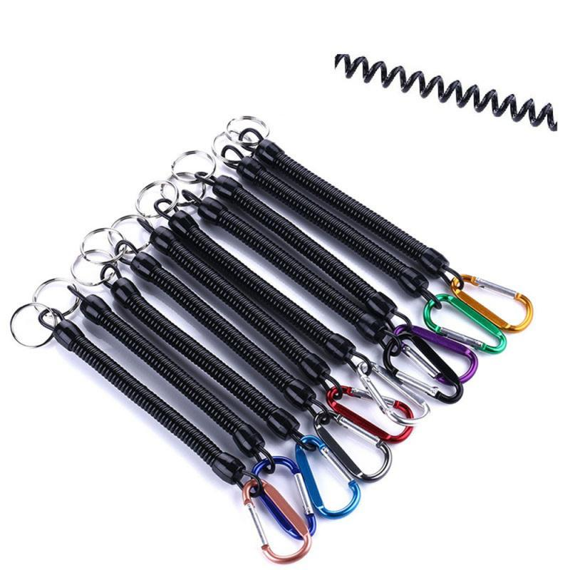 2020 Anti-lost Rope Fishing LURE Bait Fishing Gear Take-up Cord Fishing Gadgets Spring Rope Metal Buckle Hot In Sale(China)