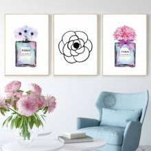 Modern Wall Art Home Decor Perfume Bottle Canvas Painting Coco Pictures For Living Room Fashion Posters and Prints No Frame