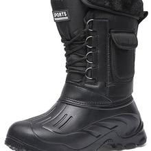 Footwear Men Boots Shoes Waterproof Sneakers Activities Fishing-Snow Warm Male Outdoor