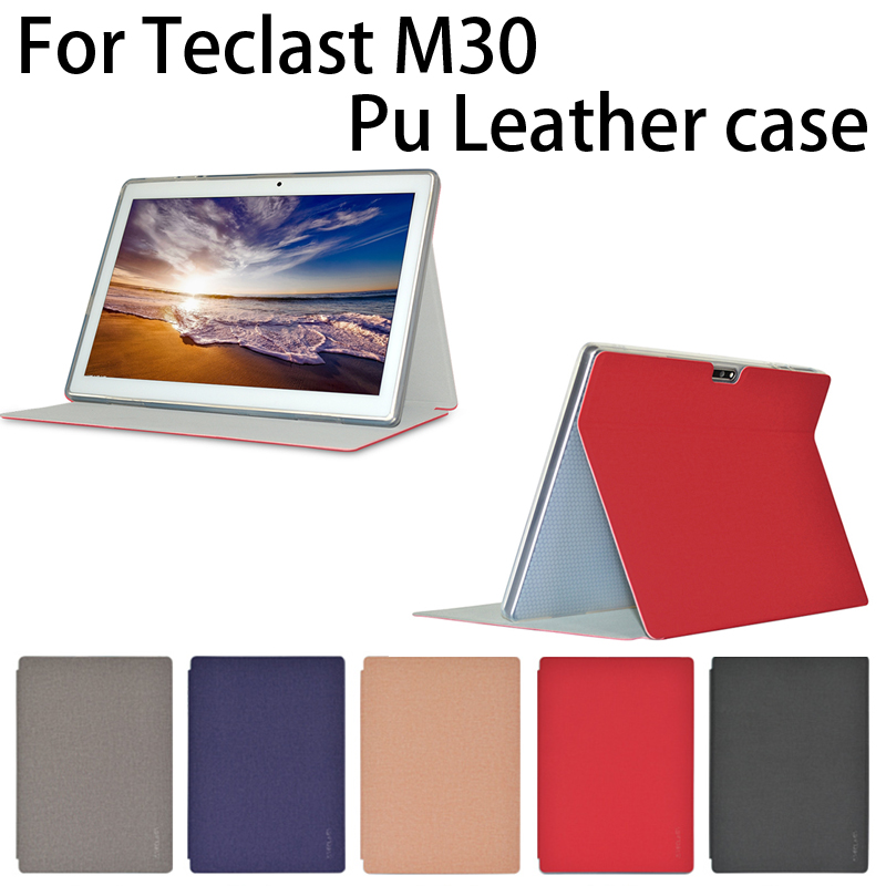 Newest!!High Quality Free Shipping Original Thin Pu Case For 10.1 Inch Teclast M30  Tablet PC, M30 Case Cover