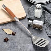Овощной многофункциональный инструмент из нержавеющей стали токарные лопата с деревянной ручкой блинница жареный стейк кухонные лопатки инструмент для приготовления пищи