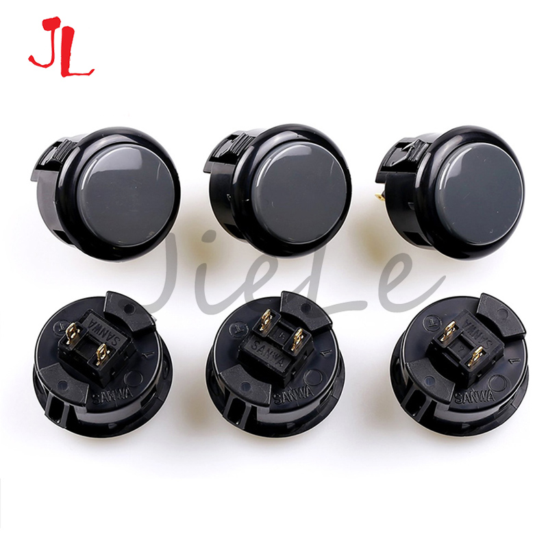 8pcs Original Sanwa OBSF-30 Push Button For Arcade MAME Game DIY Parts 13 Colors Available