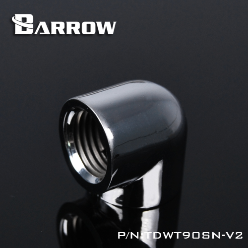 Barrow Double Internal G1 / 4 '' Thread 90 Degree Fitting Adapter Water Cooling Adapter Water Cooling Fitting TDWT90SN-V2