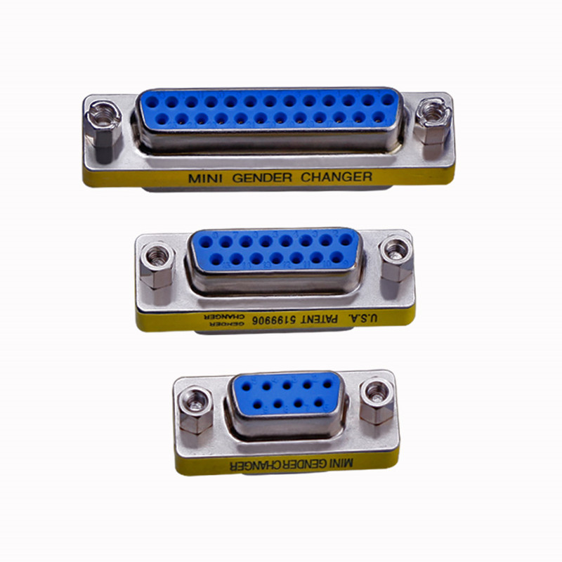 Mini Gender Changer Adapter DB9 DB15 DB25 RS232 Serial Port Com Connector Female/Male