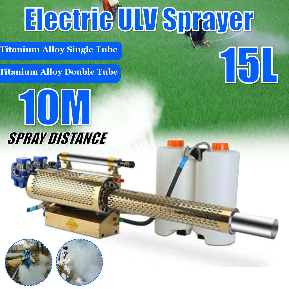 Portable Disinfection Thermal Fogger Machine ULV Fogger Machine Large Capacity Sprayer Spray Machine For Mosquito Pest