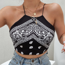Black Strap Cross Criss Camisa Women Sexy Bodycon Backless Print Crop Top Summer Tops For Women  Cropped Bustier Top sexy black criss cross round neck crop top
