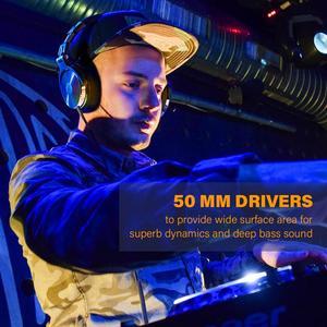 Image 3 - OneOdio orijinal kulaklıklar profesyonel stüdyo dinamik Stereo DJ mikrofonlu kulaklıklar kablolu kulaklık izleme telefon için