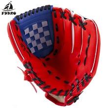 FDBRO 1 шт. бейсбольное оборудование бейсбольные перчатки PU утолщенные бейсбольные перчатки Детские Молодежные закрытые софтбольные перчатки