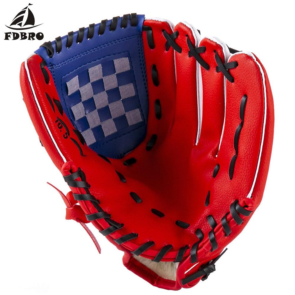 FDBRO 1pcs Baseball Equipment Baseball Glove PU Thickened Baseball Glove Children Youth Closed Softball Basked Softball Gloves