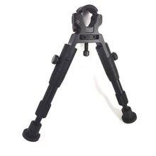 6 polegada ajustável tactical shooting bipod dobrável leve universal barril braçadeira-na montagem rifle bipod pés de borracha