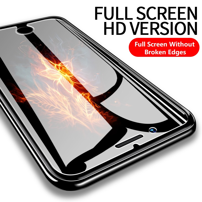 Protective Tempered Glass For Iphone 6 6s 7 8 Plus X XR XS Max 11 Pro HD Screen Protector Glass Protective Film On Iphone 5 5s 6