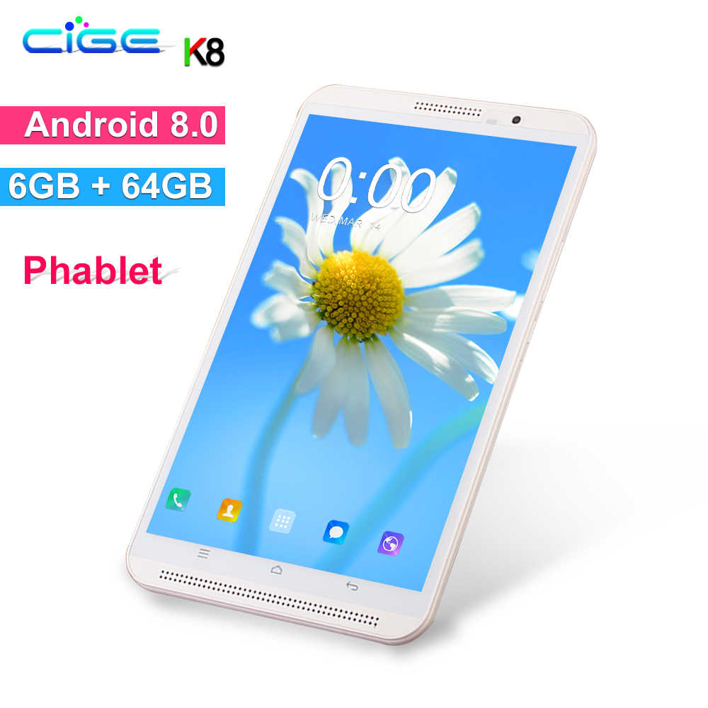 Baru 8 Inch Tablet PC Octa Core 6GB 64GB 1280X800 FHD Dual SIM Kartu Wifi android 8.0 OS Tablet Ponsel Mid 10 10.1 Pad