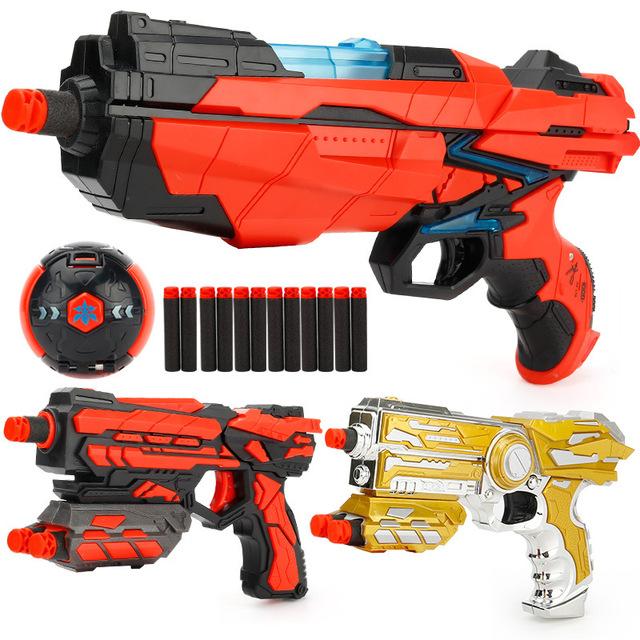 Children's Shooting Gun Toy Air Soft Bullet Gun Boys 3-6 Years Old Explosion Ball Series Gifts For Kids FJ842
